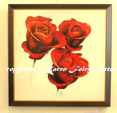 Blushing Roses Framed