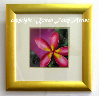Cherry Cheer Frangipani Framed