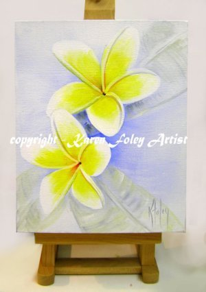 easel art frangi on blue